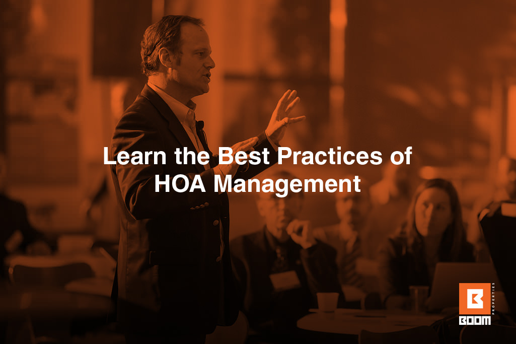 Learn the Best Practices of HOA Management - a person talking at the meeting