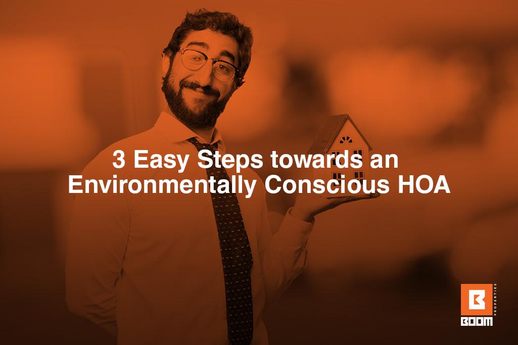 3 Easy Steps towards an Environmentally Conscious HOA - a person holding a small house