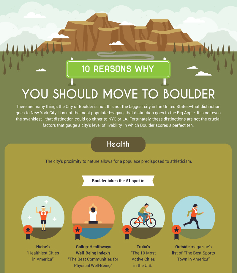 Reasons to move to Boulder