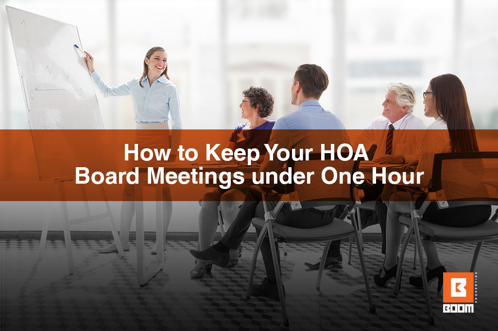 How to Keep Your HOA Board Meetings under One Hour - people at the meeting