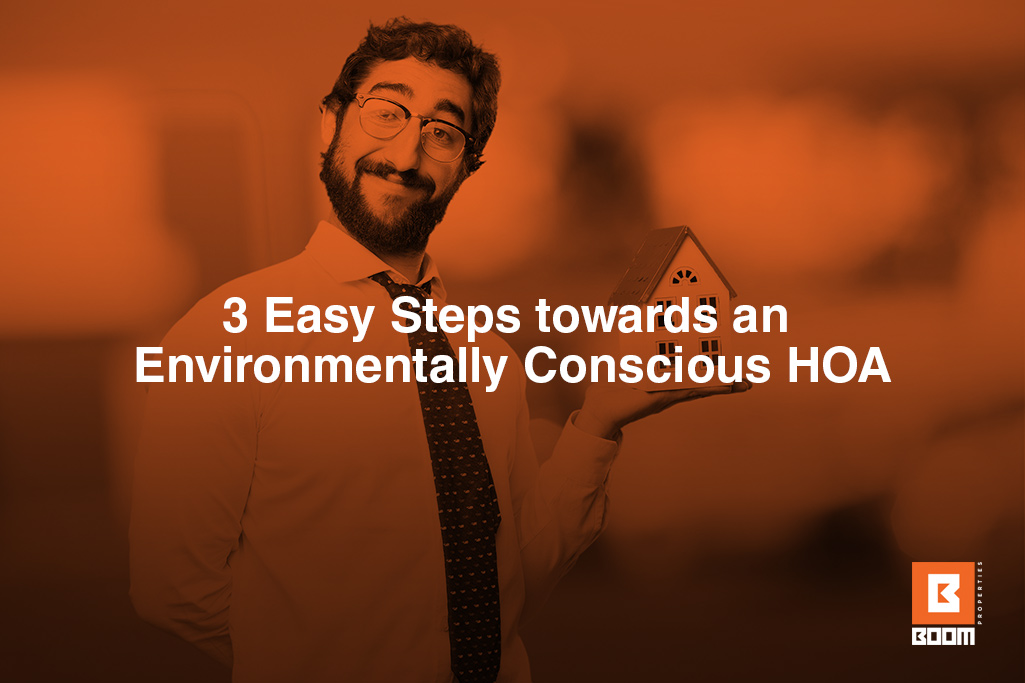 3 Easy Steps towards an Environmentally Conscious HOA - a person holding a small house